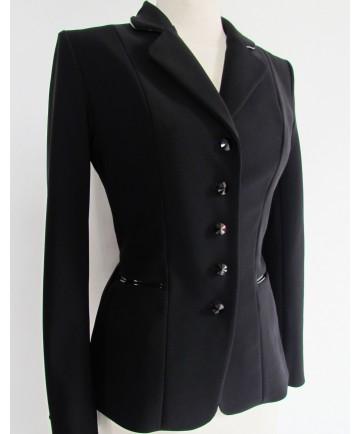 veste noir vernis