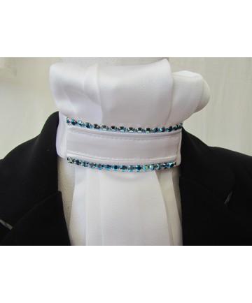lavallière strass bleu