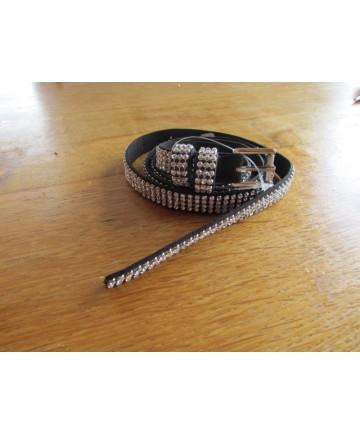 ceinture strass 2 cm
