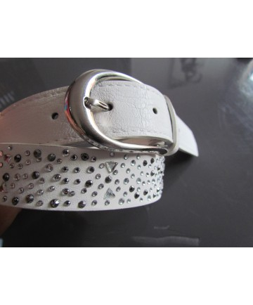 ceinture blanche strass