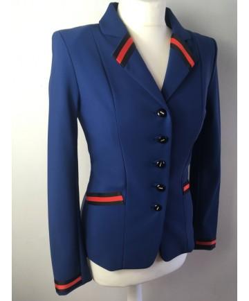 veste bleu ruban rouge t 36