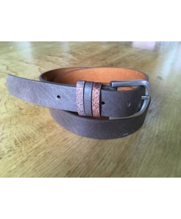 ceinture marron paillettes