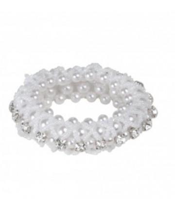 élastique blanc et perles