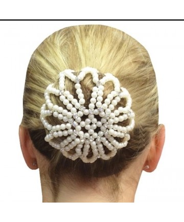 résille perles blanche