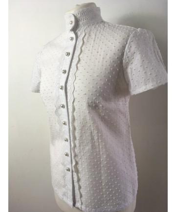 chemise blanche  plumetis