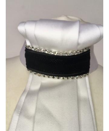 lavallière suédine perlé noir