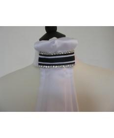 lavallière ruban noir et strass
