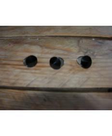 boutons swarovski noir pertits