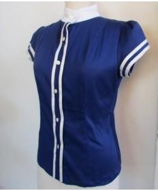 chemise coton bleu-42