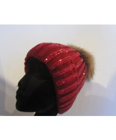 bonnet rouge strass