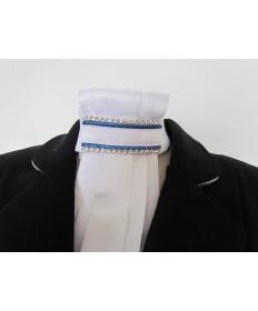 lavallière bleu lurex et strass