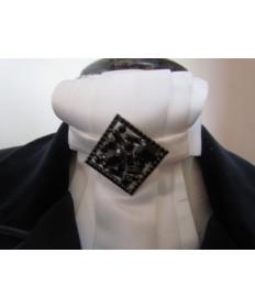 broche cristal losange noir