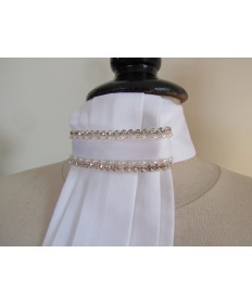 lavallieres petites perles blanches et strass