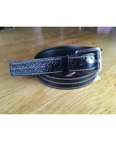 ceinture vernis ligne argent