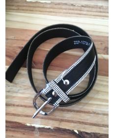 ceinture strass noir