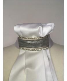 lavallière suédine perlé grise