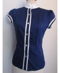 chemise coton bleu