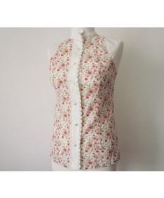 chemise sans manches a fleurs