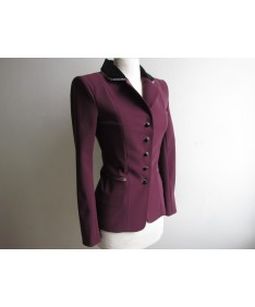 veste raisin col velours noir