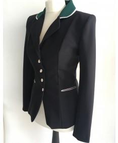 veste bicolore noire et verte