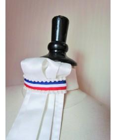lavaliere perles et bleu blanc rouge