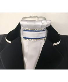 lavallière bleu lurex