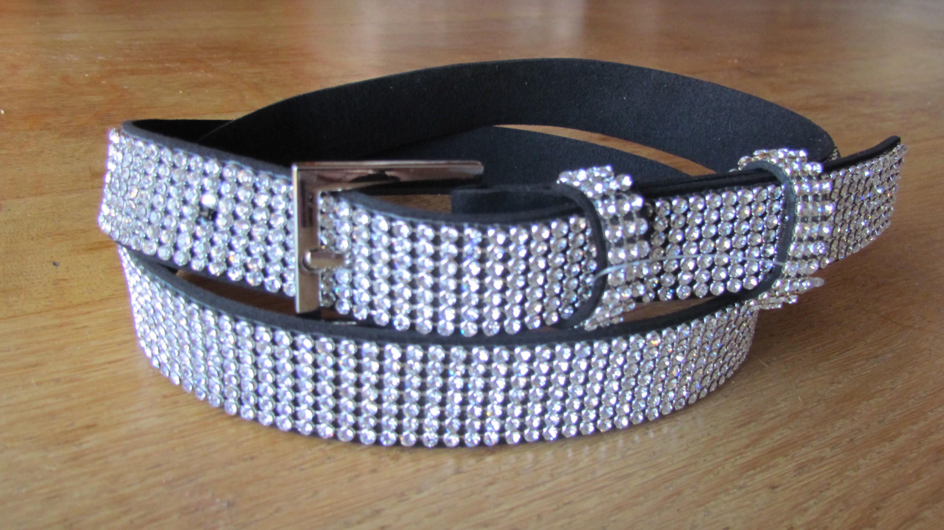 plus récent 77b92 6a57a ceinture strass 5 cm - Collection