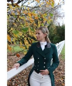 green dressage coat