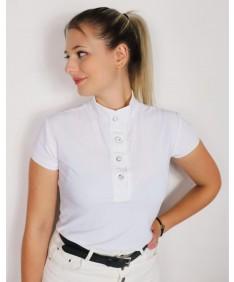 white lace polo