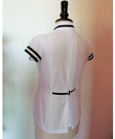 chemise noir et blanche couture