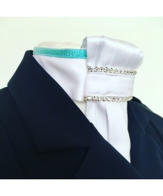 lavalliere bleu lurex