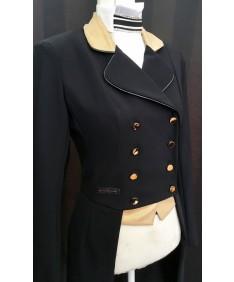 Gold suede dressage coat