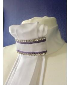 plastron purple glitter